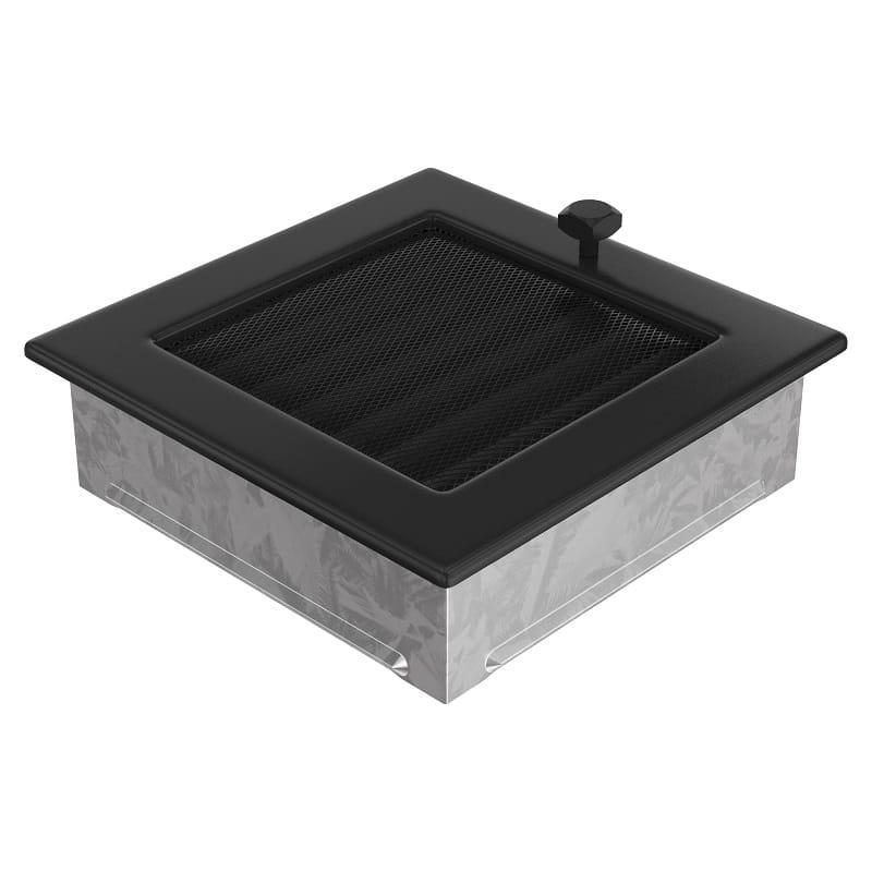 l ftungsgitter kamingitter 17cm x 17cm schwarz mit jalousien. Black Bedroom Furniture Sets. Home Design Ideas