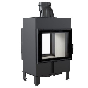 LUCY 12 T  -  (12kW)  TUNNEL - Warmluft Traditioneller Kamineinsatz