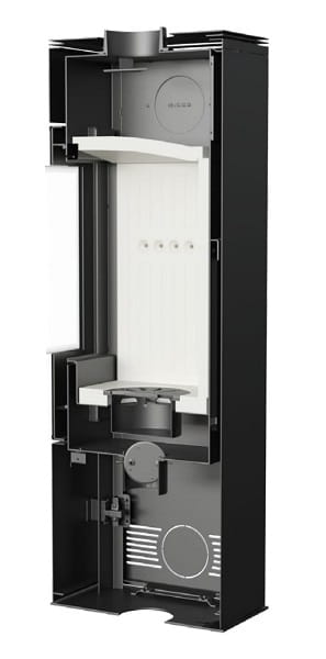 thor 8kw freistehenden kaminofen. Black Bedroom Furniture Sets. Home Design Ideas